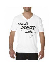 """Heren T-shirt, """"Kep ur Schijt aan.."""""""