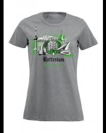 010 t-shirt dames, Rotterdam wereldstad