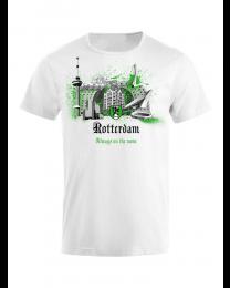 010 t-shirt heren, Rotterdam wereldstad