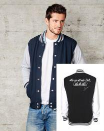 """Collage Jacket """"Als ge ut nie Ziet, ist ur nie"""""""