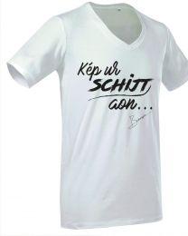 """Heren T-shirt, """"Kep ur Schijt aon.."""""""