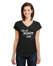 """Dames T-shirt, """"Kep ur Schijt aon"""""""